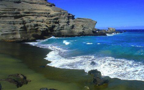 paradisi della biodiversità-spiaggia papakolea- Hawaii-setup